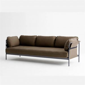 hay-can-three-seater-sofa-grey-frame-army-cushions-with-army-outer-canvas