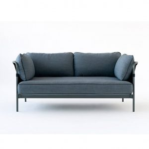 hay-can-two-seater-sofa-grey-frame-green-blue-cushions-blue-outer-canvas-front