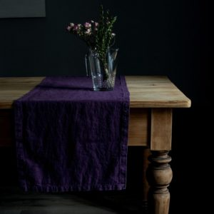 deep_purple_washed_linen_table_runner