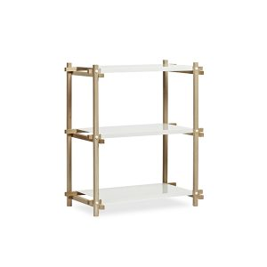 102591_Woody Column Low white shelf_oak frame